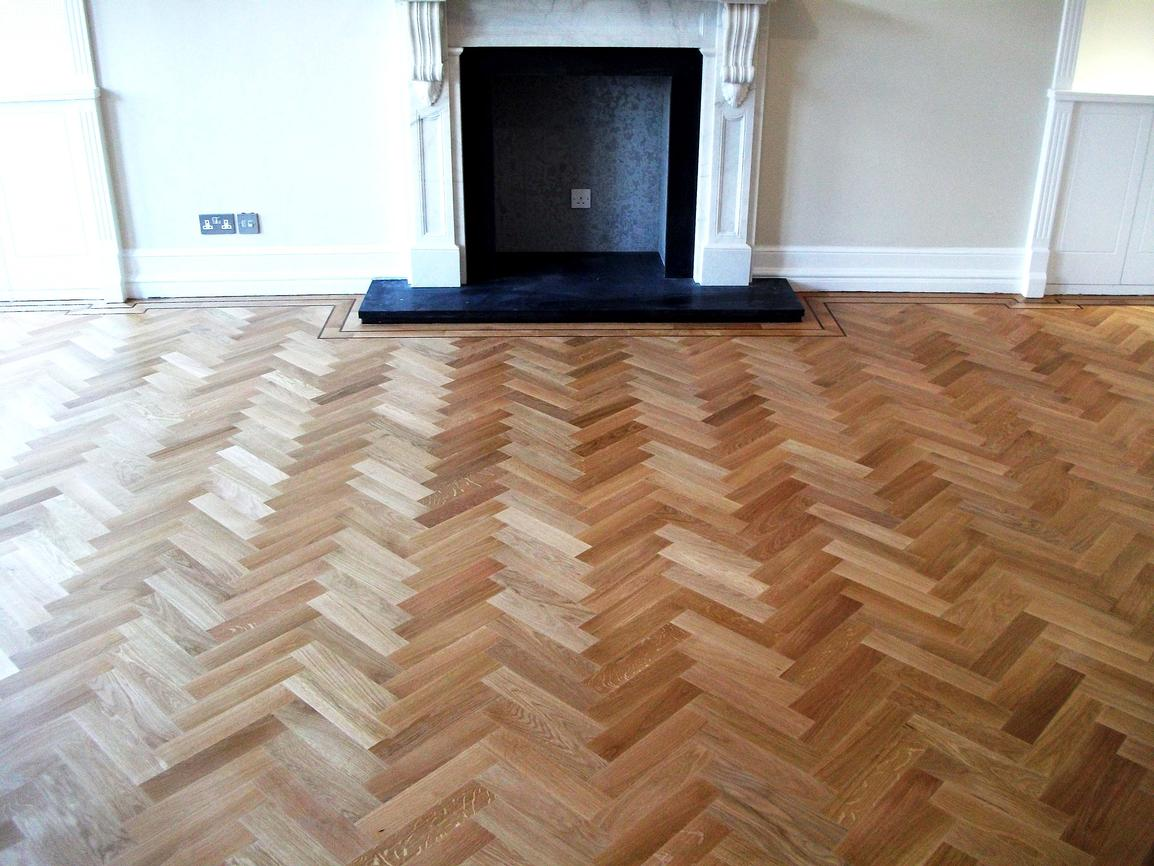 Herringbone Wood Floor Installation 171l