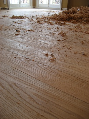 Adding floor flare to your new wood floor installation for Hand scraped wood floors